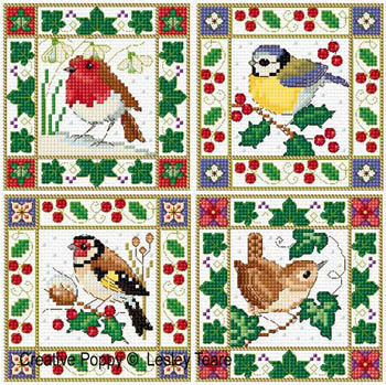 Lesley Teare - Christmas Bird Cards MAIN