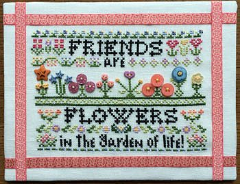 Rosewood Manor - Friends Are Flowers (with buttons) MAIN