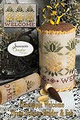 Jeannette Douglas Designs - Pineapple Welcome Drum Scissor Holder & Fob_THUMBNAIL