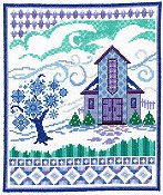 Imaginating - Barn With Winter Quilts 3201
