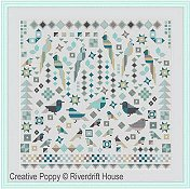 Riverdrift House - Birds Patchwork Style THUMBNAIL