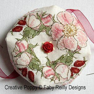 Faby Reilly Designs - Wild Rose Biscornu MAIN