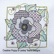 Lesley Teare - Blackwork Poppy THUMBNAIL