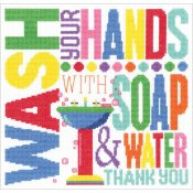 Janlynn Cross Stitch Kit - Wash Your Hands
