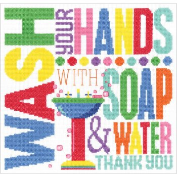 Janlynn Cross Stitch Kit - Wash Your Hands MAIN