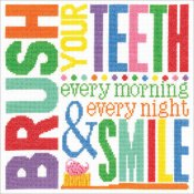 Janlynn Cross Stitch Kit - Brush Your Teeth_THUMBNAIL