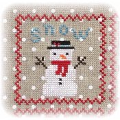 Annie Beez Folk Art - Snowy 9 Patch - Part 1 THUMBNAIL