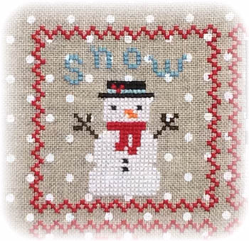 Annie Beez Folk Art - Snowy 9 Patch - Part 1 MAIN