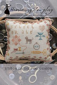 Heartstring Samplery - Stitch or Die Pincushion MAIN