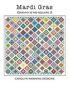 Carolyn Manning Designs - Mardi Gras - Granny Is No Square 2 THUMBNAIL