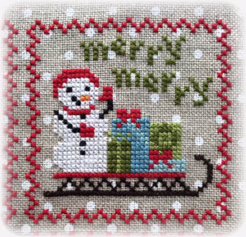Annie Beez Folk Art - Snowy 9 Patch - Part 3_MAIN