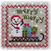 Annie Beez Folk Art - Snowy 9 Patch - Part 3 THUMBNAIL