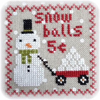Annie Beez Folk Art - Snowy 9 Patch - Part 4 MAIN