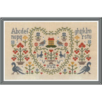 Jardin Prive' - New Antique Sampler THUMBNAIL