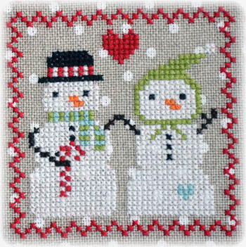 Annie Beez Folk Art - Snowy 9 Patch - Part 5 MAIN