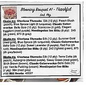 Jeannette Douglas Designs - Blooming Bouquets #1 Thankful Embellishment Pack THUMBNAIL