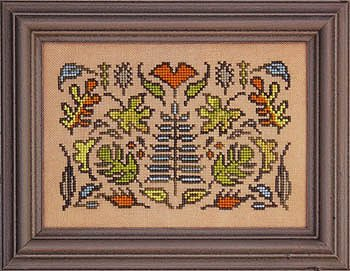 Ink Circles Cross Stitch CHART-Arranging Montages OR Cross For Anne