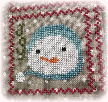 Annie Beez Folk Art - Snowy 9 Patch - Part 7 MAIN