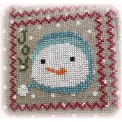 Annie Beez Folk Art - Snowy 9 Patch - Part 7 THUMBNAIL