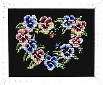 Bobbie G Designs - Pretty Pansy On Black MAIN