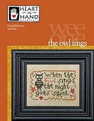 Heart In Hand Needleart - Wee One - Owl Sings THUMBNAIL
