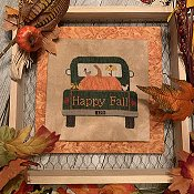 Needle Bling Designs - Rearview Pumpkin THUMBNAIL