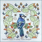 Lesley Teare - Blue Jay Amongst The Oak Leaves THUMBNAIL
