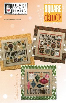 Heart In Hand Needleart - Square Dance (Oct-Nov-Dec) MAIN