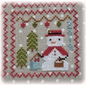 Annie Beez Folk Art - Snowy 9 Patch - Part 9 THUMBNAIL