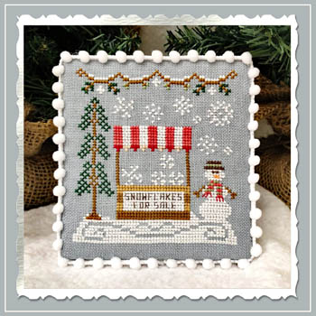 Country Cottage Needleworks - Snow Village 3 - Snowflake Stand MAIN