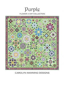 Carolyn Manning Designs - Flower A Day Collection - Purple MAIN