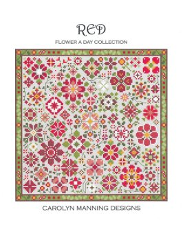Carolyn Manning Designs - Flower A Day Collection - Red MAIN