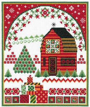 Imaginating - Barn With Holiday Quilts 3202 MAIN