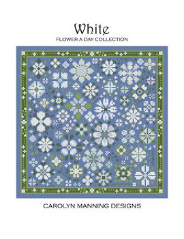 Carolyn Manning Designs - Flower A Day Collection - White MAIN