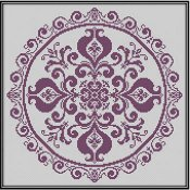 Works By ABC - Pomegranate Lace In Cross Stitch THUMBNAIL