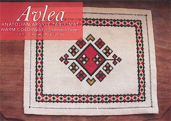 Avlea - Anatolian Argyle Table Mat Warm Colorway MAIN