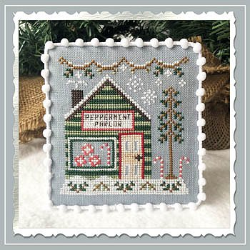 Country Cottage Needleworks - Snow Village 4 - Peppermint Parlor MAIN