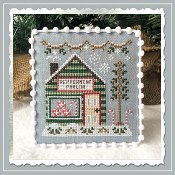 Country Cottage Needleworks - Snow Village 4 - Peppermint Parlor THUMBNAIL