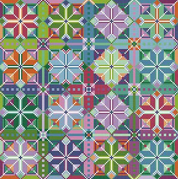 Carolyn Manning Designs - Pinwheels - Cross Stitch Quilt Collection MAIN