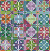 Carolyn Manning Designs - Pinwheels - Cross Stitch Quilt Collection THUMBNAIL