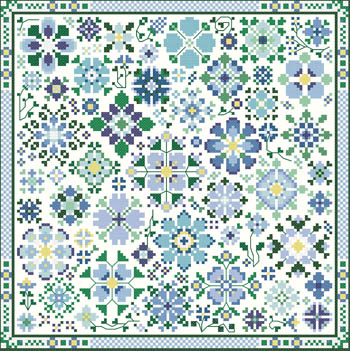 Carolyn Manning Designs - Flower A Day Collection - Blue MAIN