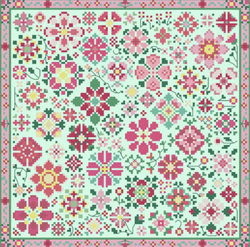 Carolyn Manning Designs - Flower A Day Collection - Pink MAIN
