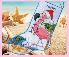 Flamingo Stocking