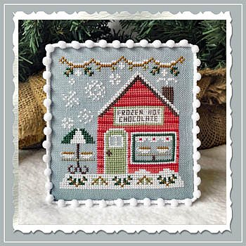 Country Cottage Needleworks - Snow Village 5 - Frozen Hot Chocolate Shop MAIN