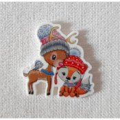 Les Petites Croix De Lucie - Cute Deer Fox And Friend Magnet THUMBNAIL