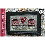 Annie Beez Folk Art - Little Pink Houses THUMBNAIL