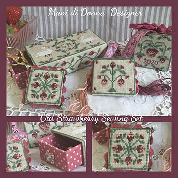 Mani Di Donna - Old Strawberries Sewing Set MAIN