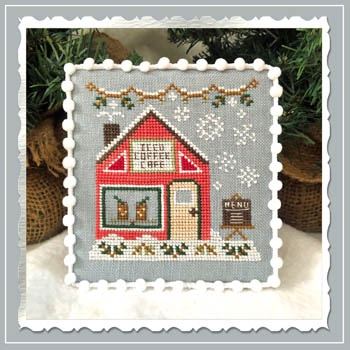 Country Cottage Needleworks - Snow Village 10 - Iced Coffee Cafe MAIN