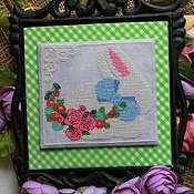 Luhu Stitches - Blue Bow Bunny THUMBNAIL