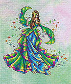 Cross Stitching Art - Iris, The Rainbow Maiden THUMBNAIL